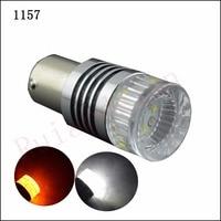1 PC vente Chaude Blanc ambre auto led drl lumière double couleur T25 3157 7443 LED Clignotants Lumière switchback 30 W CRE XBD LED De Voiture lumières