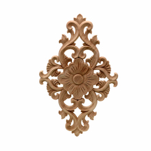 VZLX Vintage Floral Wood Carved Corner Applique Wooden Carving Decal for Furniture Cabinet Door Frame Wall Home Decor Crafts