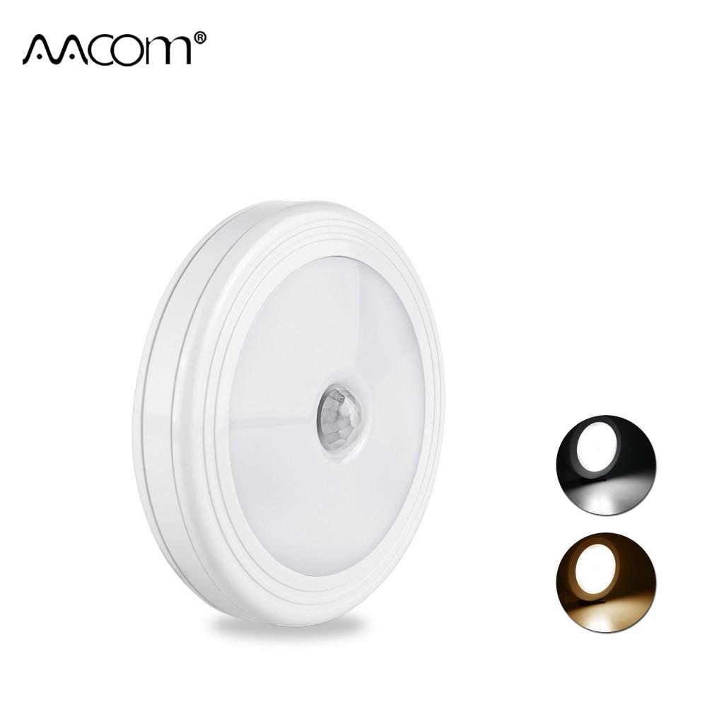6 LEDs Motion Sensor Under Cabinet Lights Magnetic PIR Wireless Smart On/Off LED Night Light For Stair Bedroom Wardrobe Cupboard Under-cabinet lighting
