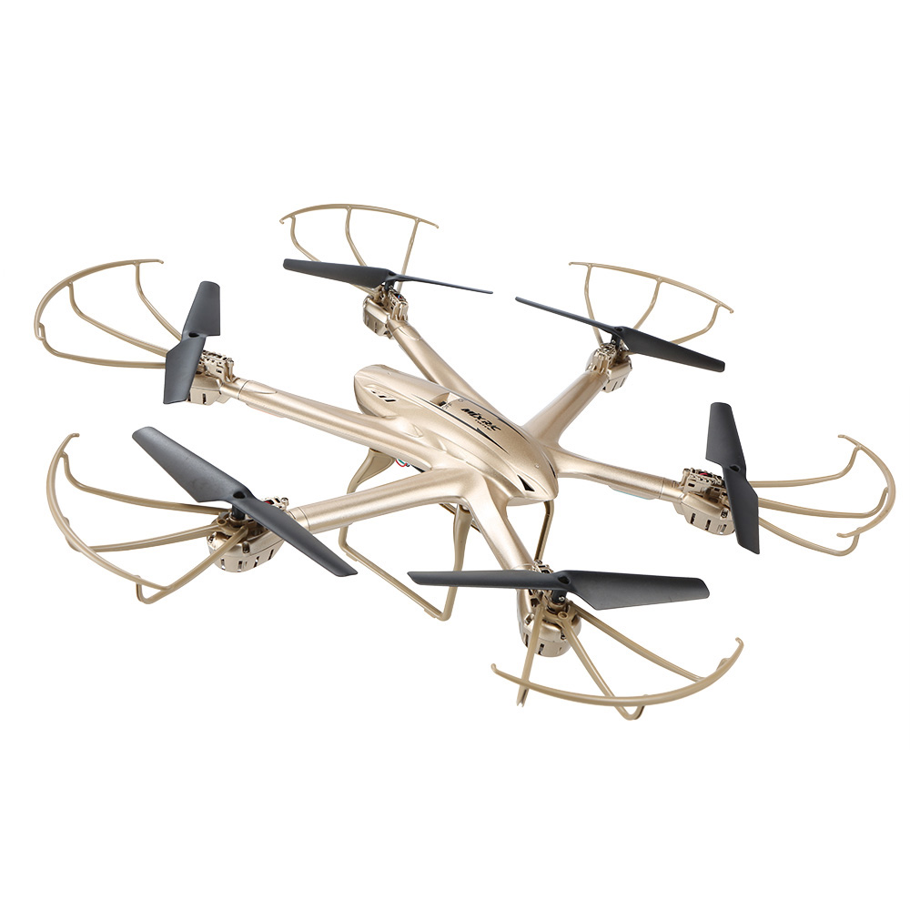 MJX X601H 2.4Ghz 6-axis Gyro 3D Roll Quadcopter Wireless and HD Video Real-time WiFi FPV Camera-Gold квадрокоптер радиоуправляемый mjx bugs 3