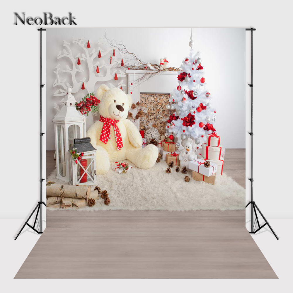NeoBack 5x7ft Vinyl Cloth Christmas Party New Born Baby Holiday Photography Backdrops Christmas Photo Studio Backdrops P1144