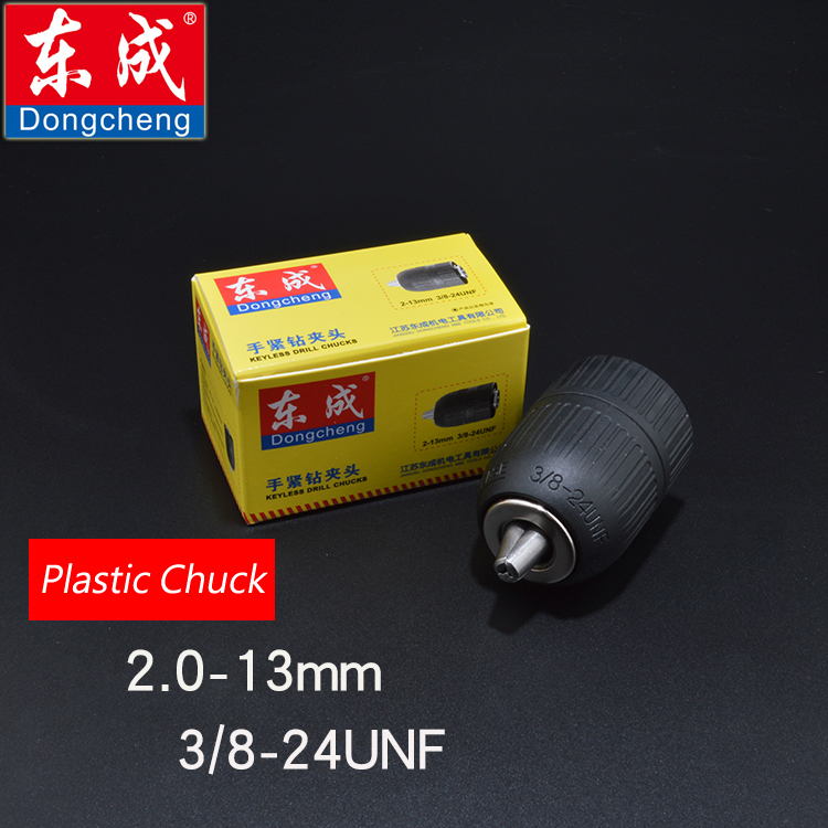 Keyless Drill Chuck 13mm Plastic Chuck For Electric Drill Max. Capacity 2.0-13mm Bore Diameter 3/8 Thread 24UNF цена