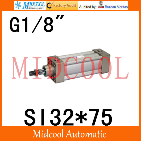 SI series ISO6431Standard cylinder SI32*75 port 1/8 bore 32mm Adjustable cylinder si series iso6431standard cylinder si160 200 port 3 4 bore 160mm adjustable cylinder