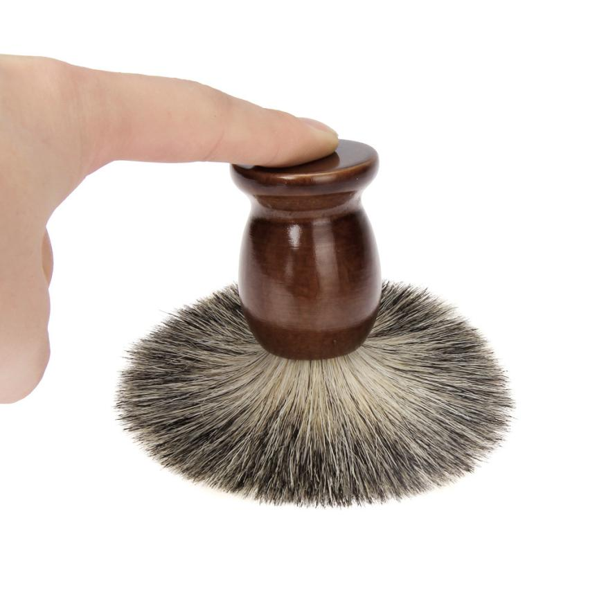 New Sexy Men Shaving Beard Brush Badger Hair Shave Black Barber Tool Brown 3MY5