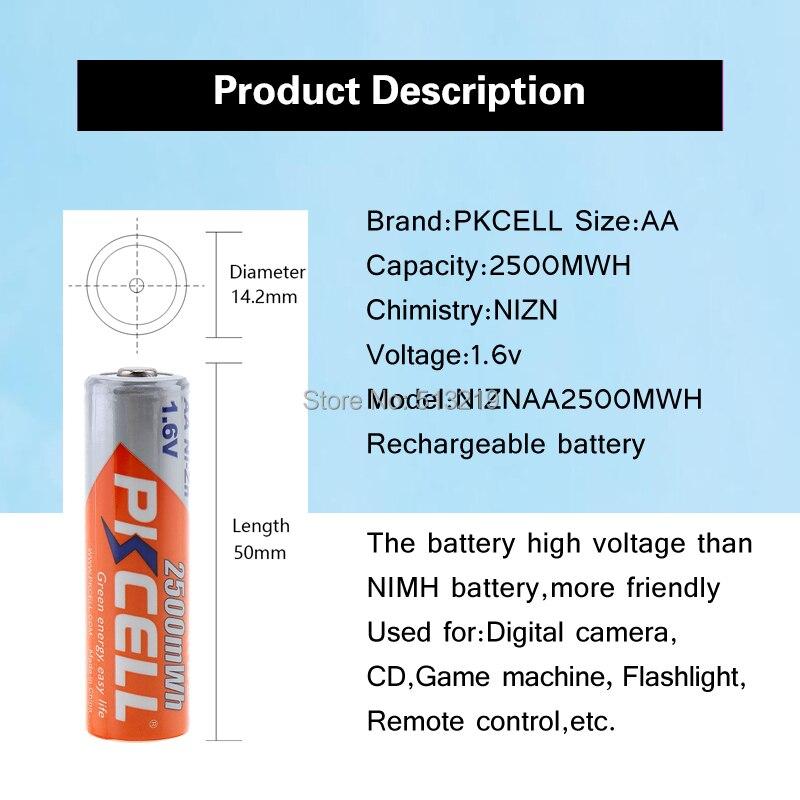 Bateria recarregável de nizn aa de 12