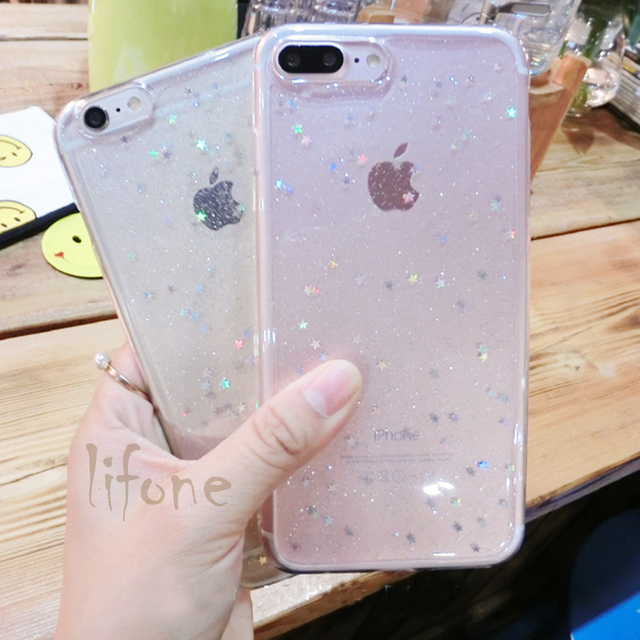 Kerzzil Bling Glitter Soft Silicone Case For iPhone 7 6 6S Plus Star Cover Shining Phone Cases For iPhone X 6 6S 8 Plus Capa 2