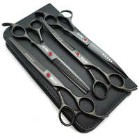 "King star Professional Pet Grooming Scissors set,7""/8""Straight & Thinning & Curved scissors 4pcs/3pcs sets+kits/case"