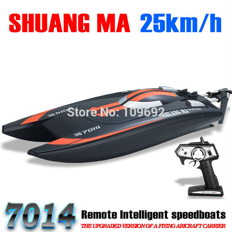SHUANG MA DH7014 High Speed 2 4G 25KM H Racing RC Boat Electric Remote Controlled Speedboat