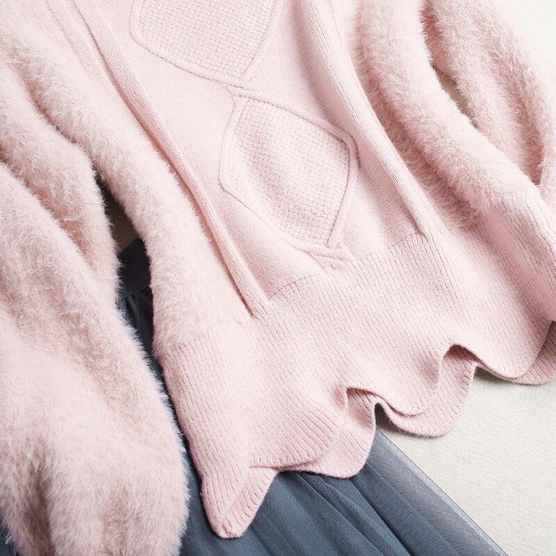 2018 новая весна Гренадин юбка комплекты высокого качества женские устанавливает винтажные линии одежды. пуловер + повседневные и голени газ...