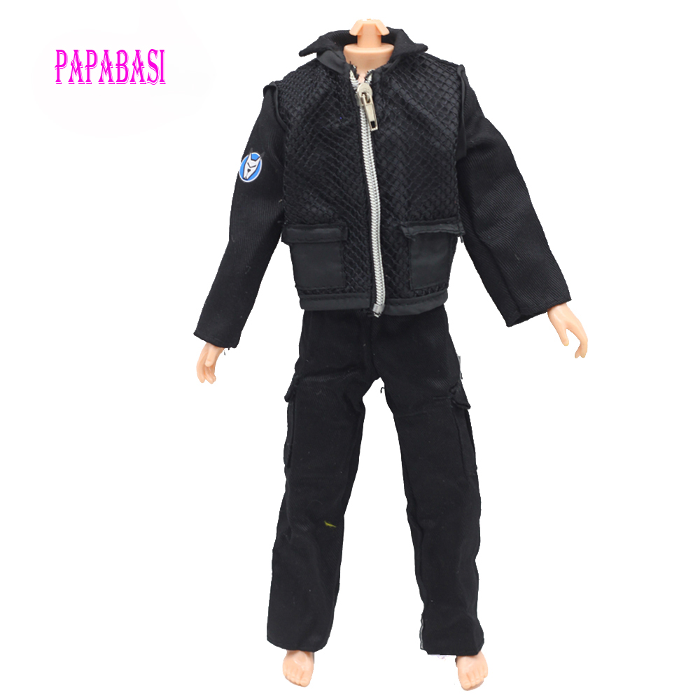 Papabasi Original Prince Clothes Combat Police Uniform Cop Outfit For Barbie Boy Male Ken Doll For