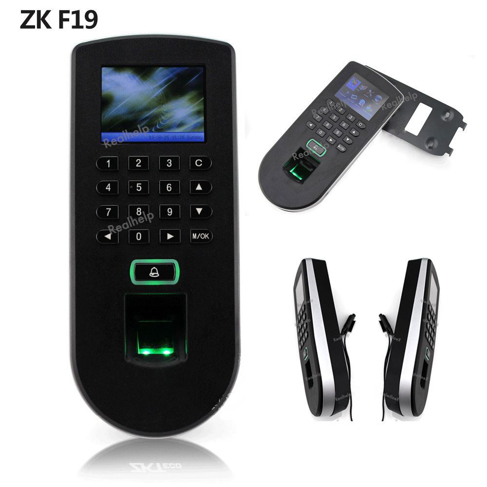 ZK F19 Access Controller system porton electrico Keypad Biometric Fingerprint Control Employee Fingerprint Sensor good quality high speed zk f19 biometric fingerprint access control system standalone fingerprint door access controller reader