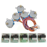 5pcs DC 5V Stepper Motor 28BYJ 48 With ULN2003 Driver Test Module Board 4 Phase For