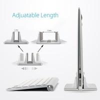 Aluminum Vertical Laptop Stand Desktop Space Saving Holder For MacBook Pro Notebook New Design Laptop Stand