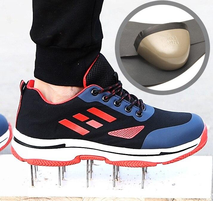 Protection Mesh vert bleu Plein Mode Trekking marron Classique Travail rouge Chaussures Bottes En Air Rétro gris Sécurité De Respirant Noir g8RwF8cq4