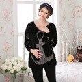 Женщин зима для беременных одежда свитер пальто