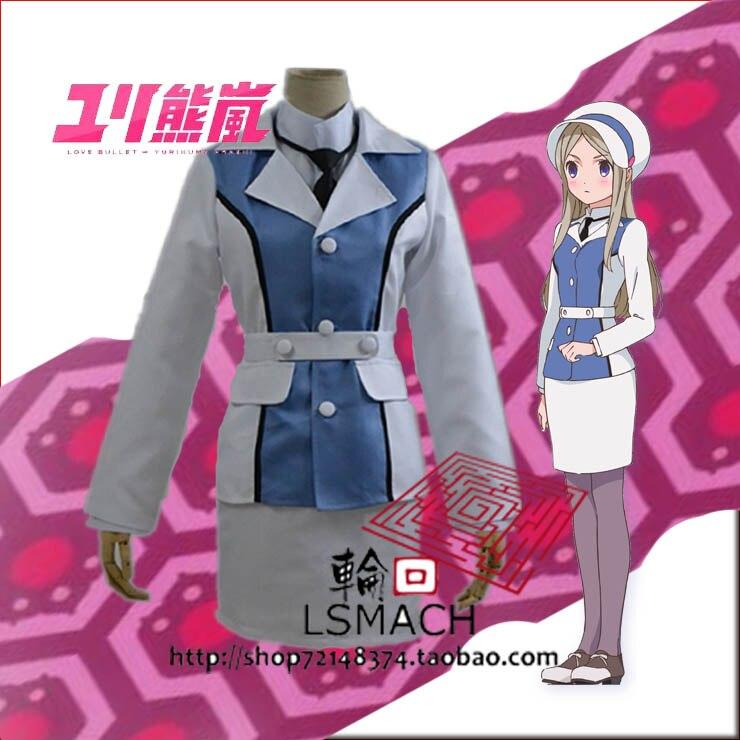 Free shhipping anime yuri kuma arashi  Cosplay Costume for female