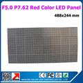 factory price indoor P7.62 dot matrix red color F5.0 LED scrolling sign module 488x244mm1/16 scan f5.0 red led panel