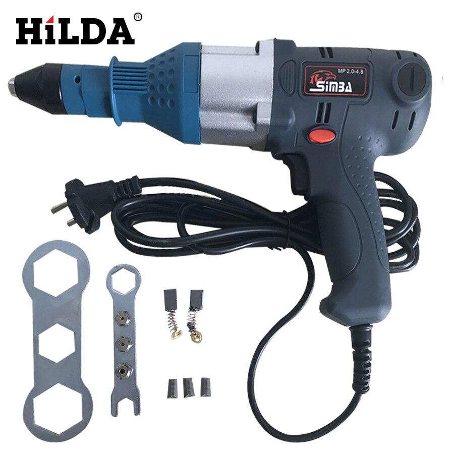 Electric Nail Gun Blind Rivets Gun Riveting Tool 400W  Electrical Power Tool For 3.2-5.0mm Economical Version ootdty electric rivet gun tool nut