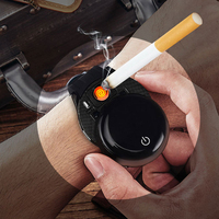 Fashion Multi function Smart Watch Wristband Rechargeable Cigarette lighter Call Reminder USB Bluetooth Clock Men Watch Lighter