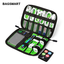 BAGSMART Electronic Accessories Bag Nylon Travel Organizer For Date Line SD Card USB Cable Digital Device