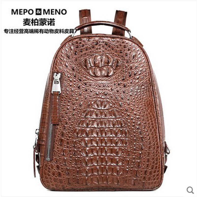 2018 maibomengnuo  Authentic crocodile skin  Ladies and gentlemen general fashion leisure travel backpack maibomengnuo authentic crocodile skin wallet belly belly fashionable contracted men thin money clip upright money