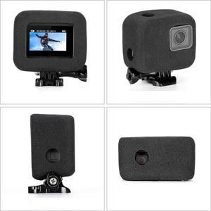 Пенопластовое ветровое стекло Корпус чехол для GoPro Hero 5/6/7 2018 черная губка для камеры защита ветрозащитная крышка защита от ветра шумоподавление