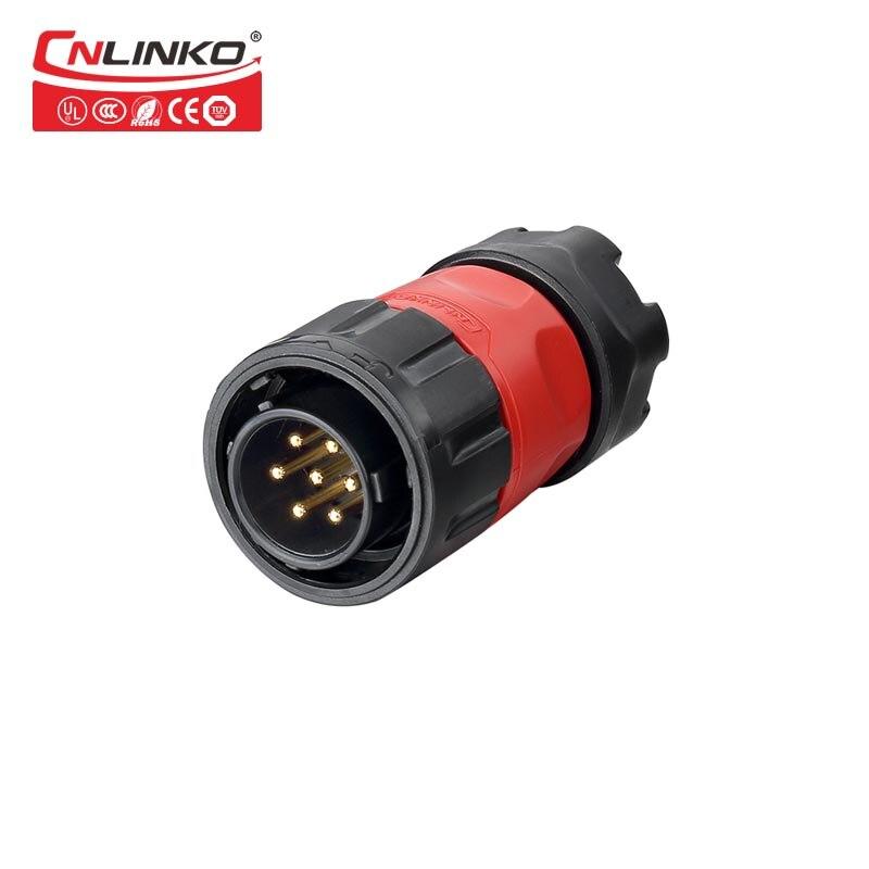Cnlinko ip67 m20 panel male plug Circular 7pin Power Connectors waterproof din plastic electric connectors for LED Display dts24f19 35bc [ circular mil spec connectors dts 66c 66 22d skt r] mr li