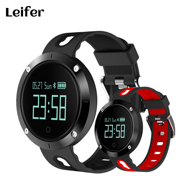 Leifer DM58 Waterproof Smart Wristband Heart rate monitor Blood Pressure Watch Smart bracelet Fitness Tracker PK