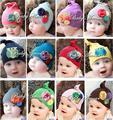 Envío gratis 5 unids/lote bebé hecha a mano de la flor del bebé del sombrero infantil casquillo lindo dr0001-43