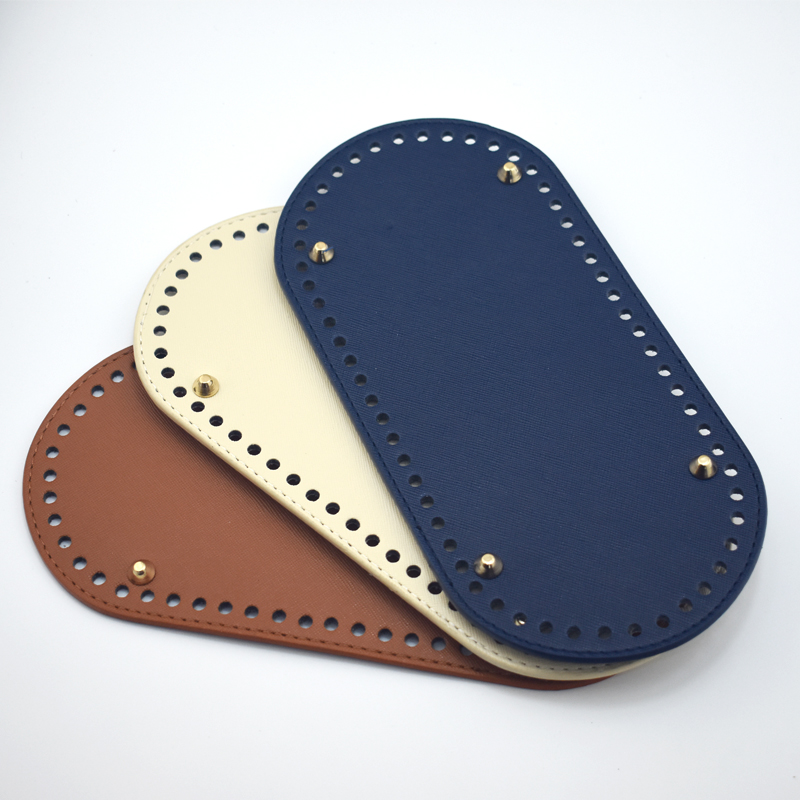25x12cm Oval Bottom for Knitting Bag PU Leather Bag Handmade Diy Accessories Women Bag Long Bottom High Quality Leather KZB18007 цена