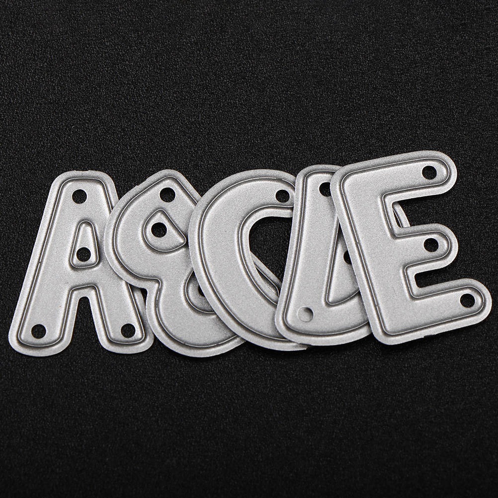 26pcs/set Alphabet Letter Metal Die Cutting Dies For Sizzix Fustella Shot Cutting Machine Diy Scrapbooking Embossing Folder Suit