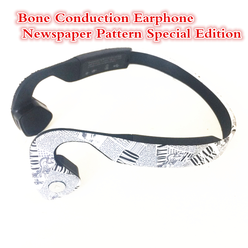 Hot Sale Bone Conduction Bluetooth Stereo Headset Sports Headphones earphone with mic For Running Cycling Newest Newspaper Style
