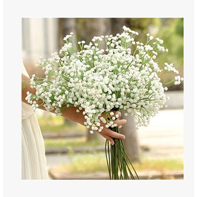 5pcs Lot DIY Artificial Babys Breath Flower Gypsophila MANTIANXING Star Flowers Wedding Bouquet Home Decoration
