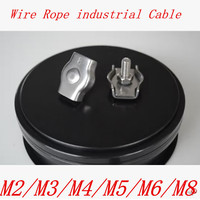 50 pz M2 M3 M4 M5 M6 304 Stainless Steel Wire Rope Grip Cavo Simplex Morsetto