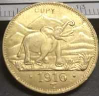 Réplica de moneda dorada, rupis-wihelm II, Alemania, África oriental, 15, 1916