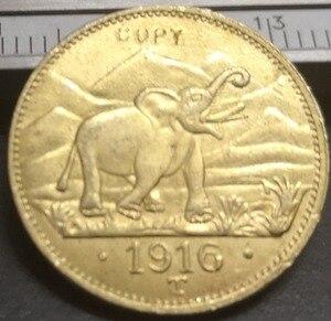 1916 немецкая Восточная Африка 15 Rupien-Wihelm II Золотая копия монеты