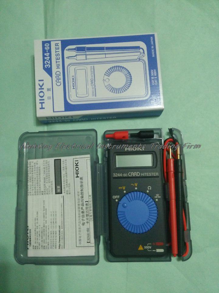 Fast arrival HIOKI 3244-60 Card HiTester Digital Multimeter auto-ranging power saving цена