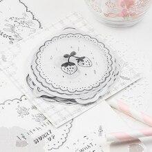 купить Kawaii Cute Forest Flower Memo Pad Marker Transparent Paper Planner List Stationery School Office Supplies Bullet Journal sl2040 дешево