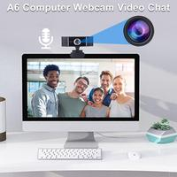 camera computer A6 Computer Webcam Widescreen Video Calling Recording 1080P Camera With Microphone Free Drive For Video Chat Video Conferencing (2)