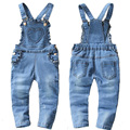2017 new spring and autumn Baby girls denim bib pants infant jumpsuit lovely overalls for children girl roupas de bebe