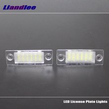 Liandlee For Skoda Superb 2002~2008 / LED Car License Plate Lights / Number Frame Light / High Quality LED Lamp цена и фото
