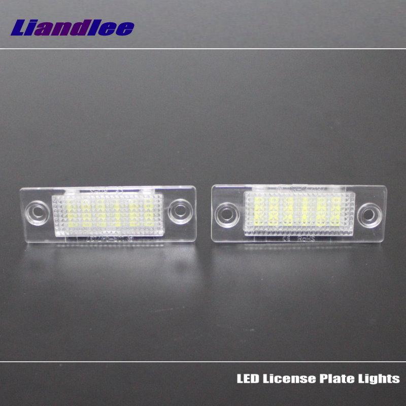 Liandlee For Skoda Superb 2002~2008 / LED Car License Plate Lights / Number Frame Light / High Quality LED Lamp