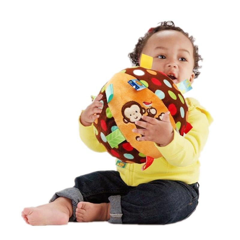 Mono Colorido Anillo de Bebé Juguete de Pelota de Bell Juguetes - Juguetes para niños - foto 3