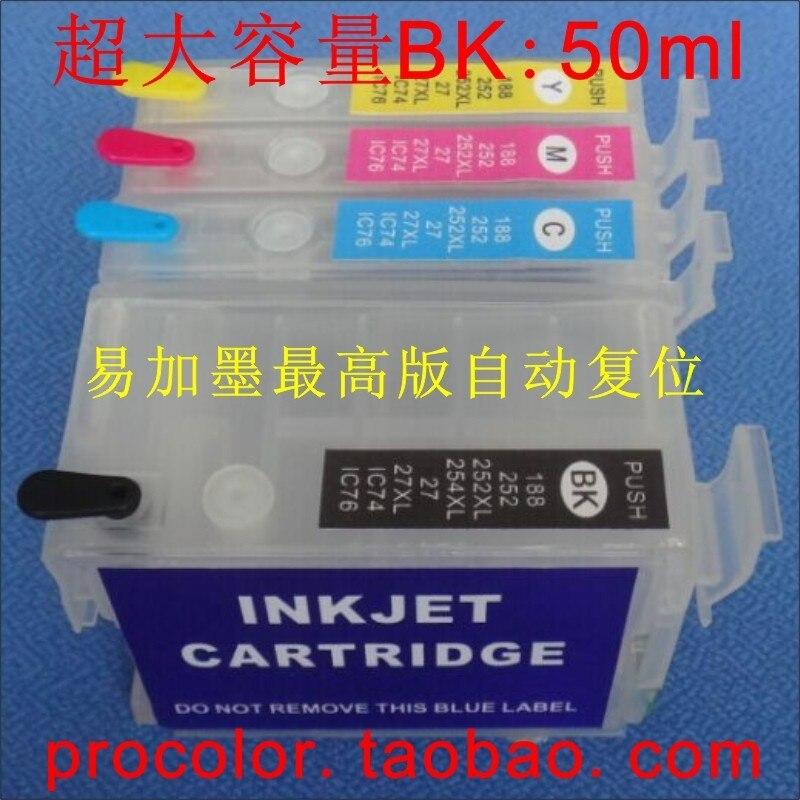 US $16 74 7% OFF|Full Refill inkjet cartridges Europe T2711 T27 XL for  epson WorkForce WF7110DTW WF 7110 7620 WF7110/WF7610DWF/WF7620DTWF  WF7620-in