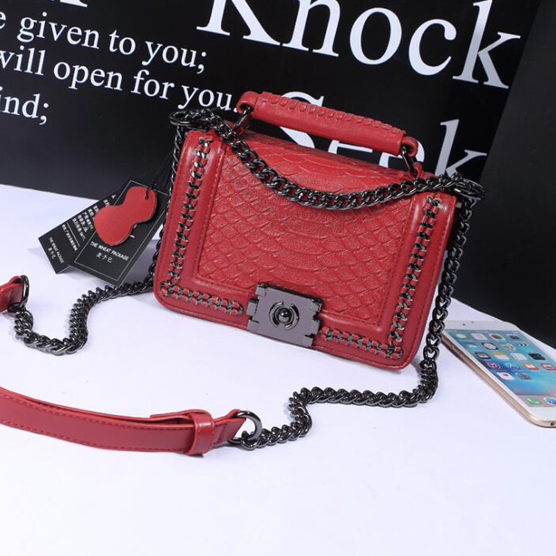Luxury bags women leather handbags Designer Chain Shoulder bag Famous Brands red Female Messenger bags Girls Sac a main femme 2017 women leather handbag of brands women messenger bags cross body ladies shoulder bag luxury handbags designer s 83