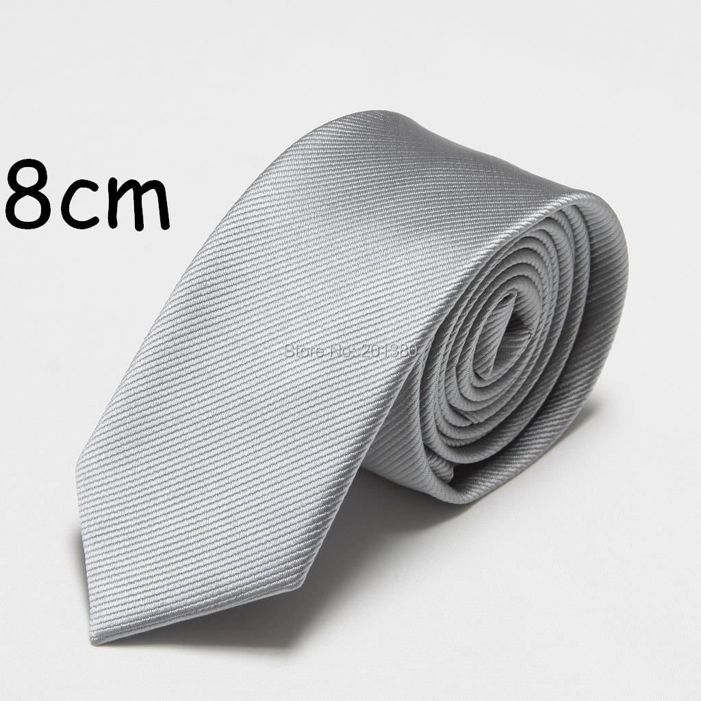 HOOYI 2019 New Solid Fashion Men's Tie Ties For Men Neckties Polyester Neckcloth 8cm Width