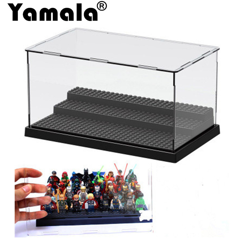 [Yamala] Building Block Display For Star Wars The Force Awakens Super Heroes Acrylic Box Showcase Ladder Cabinets Toys single sale star wars the force awakens chewbacca kylo ren han solo super heroes building blocks bricks toys for children x0104