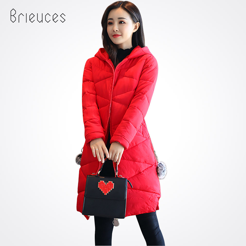 Brieuces 2017 New Winter Jakcet Women Down Cotton Jacket Long Thick Parkas Female Cotton Padded Coat Outerwear 2016 new winter jacket skirt real down jakcet thick long down jacket korean slim brand coat womens down jackets parkas feminina
