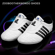 Zooboo Moo classique Taekwondo chaussures enfant adulte chaussures d'arts martiaux formation taekwondo chaussures kickboxing TKD Eur 27-45(China)