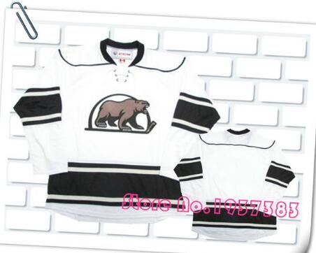 fa63af4b0 SexeMara 2016 Style HERSHEY BEARS White Hockey Accept Custom any name and  number size small S